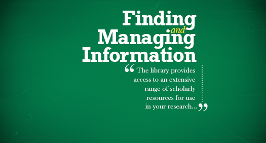Finding and Managing Information