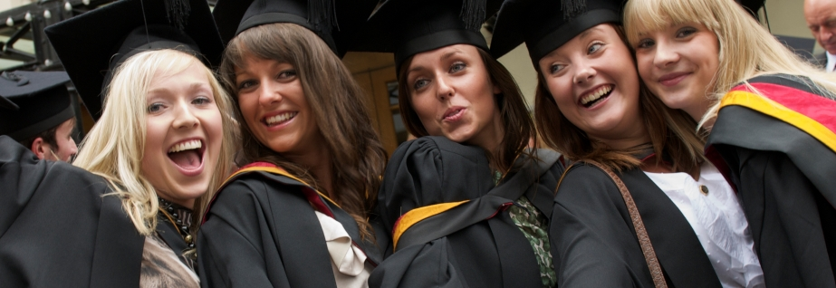 Graduates in gowns