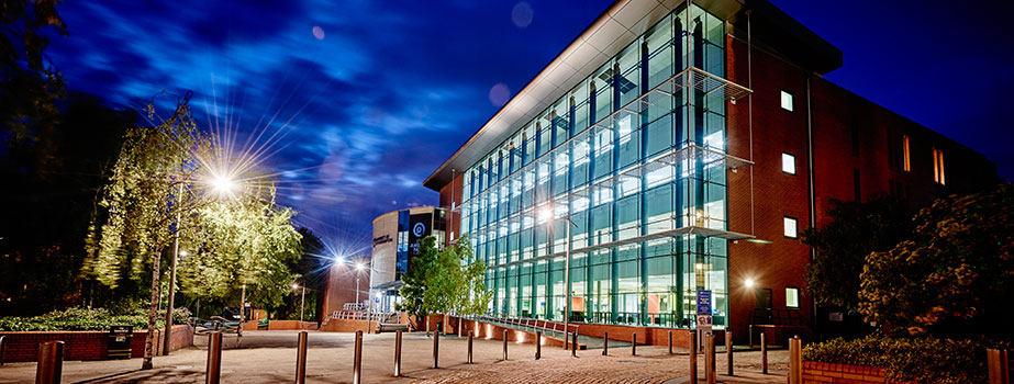 Virtual Tour Banner - Ambika Paul Building at night