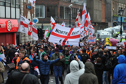 Far Right demonstration - photo courtesy of the Express and Star
