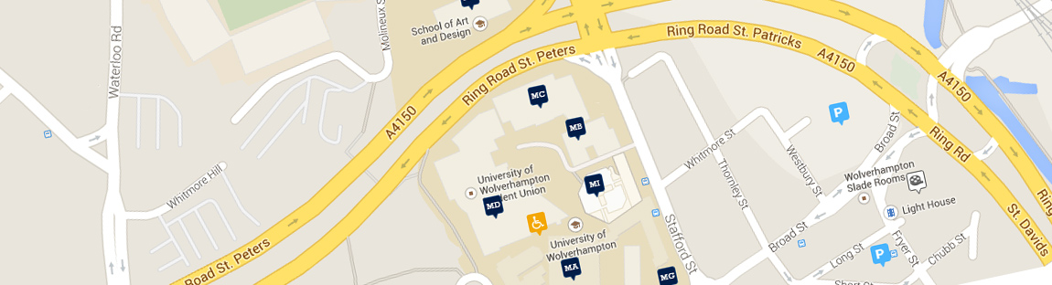All maps and directions University of Wolverhampton