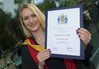 Paralympic gold medallist Danielle Brown MBE has been honoured by the University of Wolverhampton today for her outstanding sporting achievements.