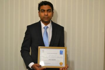 Dr Arun Arjunan winner of the Elsevier award