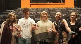 Former music student, Clare Teal, visits the University to talk to music students about the industry and her career