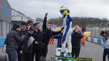 UWR Race Team bag a hat trick of podium wins at Donington Park in the F3 Cup Championship.