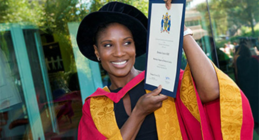 Honorary Degree for Olympian Denise 3