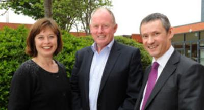 Dr Anthea Gregory, Steve Morgan and Steve Grady