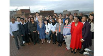 Mayor with International Students