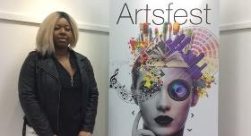 Marie with her design for Artsfest 2016