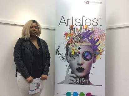 Marie Muzhuzha with her Design for Artsfest 2016