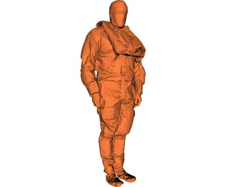 Offshore workers research into size and weight through 3D body scanning