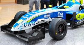 F3 car unveiled at the Bullring Shopping Centre in Birmingham