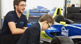 Telford pupils visit Innovation Campus and meet Shane Kelly and racing crew