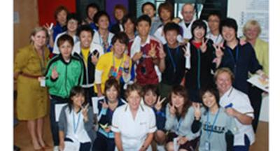 Students from Tokai-Gakuen University (Japan) at the University of Wolverhampton's School of Health
