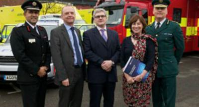 Vij Randeniya, West Midlands Fire service's chief fire officer, Vice-Chancellor of the University of Wolverhampton Professor Geoff Layer, Head of NHS Preparedness Phil Storr from the department of health, Dean of the University of Health and Wellbeing Professor Linda Long and Anthony Marsh, Chief Executive of West Midlands Ambulance Service.