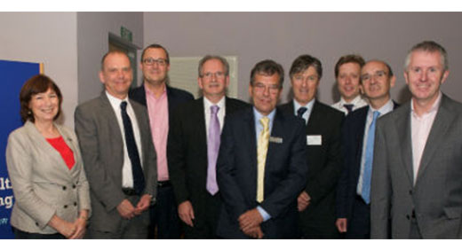 Professor Linda Lang, Professor Geoff Layer and Dr Mark Britnell, with the speakers and expert panel from the Commissioning Masterclass.