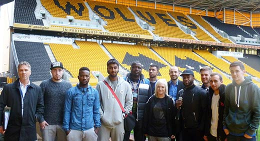 Students learn about sports economics at Molineux Stadium