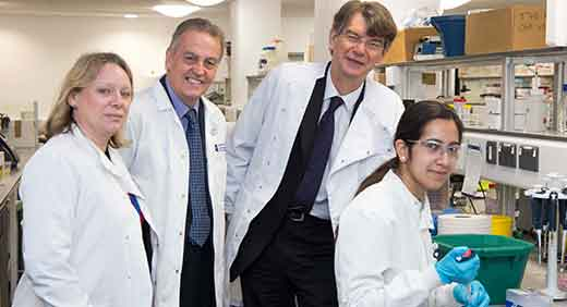 Professor Tracy Warr, Peter Realf, Wolverhampton South MP Rob Marris and Dr Anushree Singh